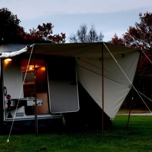 Shelter-plus-tentkamperen