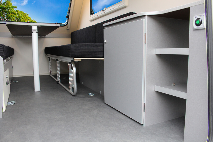 Kip Shelter Plus praktische ruimte