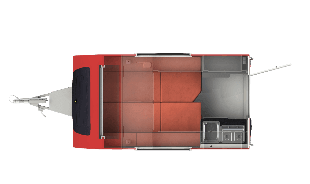Shelter kleine caravan interieur nacht indeling