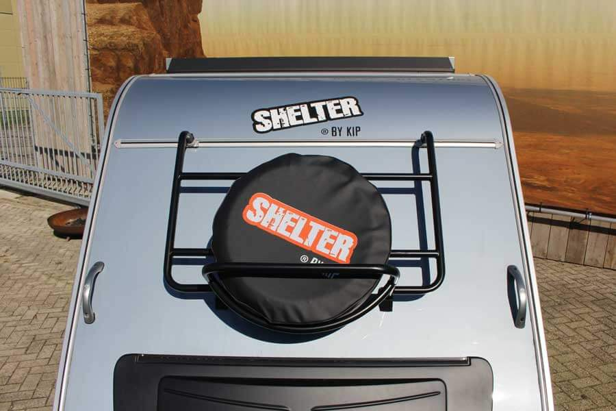 Bagagerek op voorwand van de Shelter Basic of Shelter Offroad