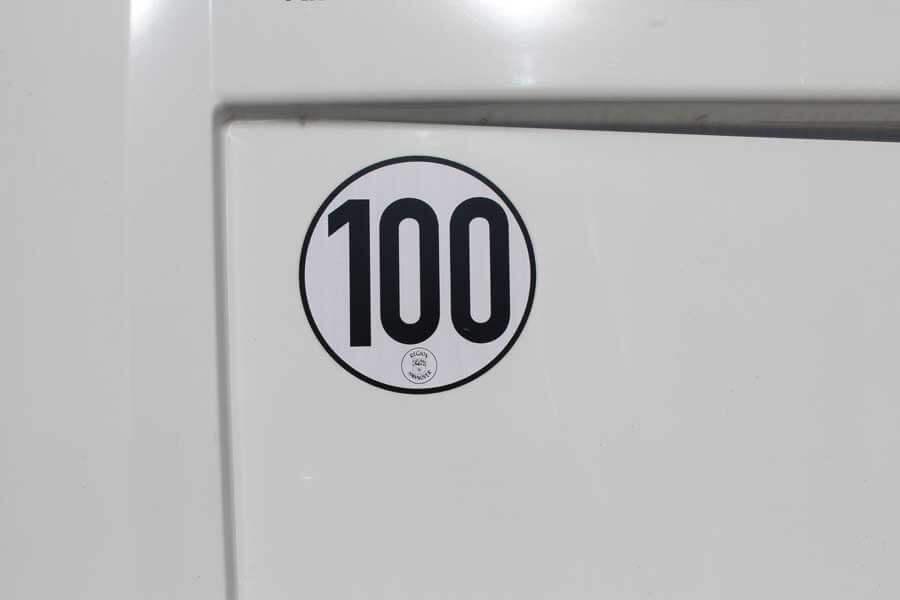Tempo 100 goedkeuring met certificaat voor Duitsland